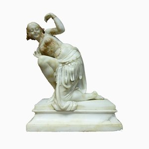 Antique Alabaster Sculpture by J. B. Laroche