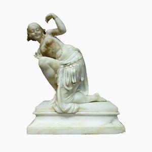 Escultura de alabastro antiguo de JB Laroche