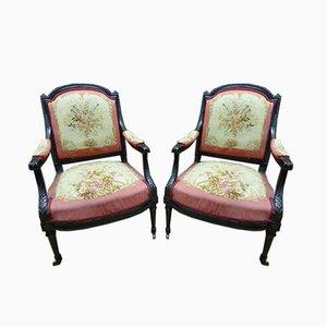 Chaises de Salon Napoléon III Antiques, Set de 8