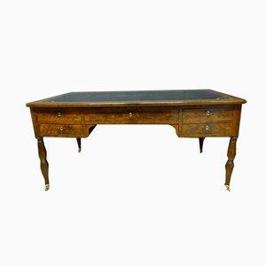 Großer Antiker XIX Mahagoni Schreibtisch