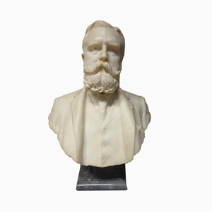 Antique Marble Bust Sculpture by Puech