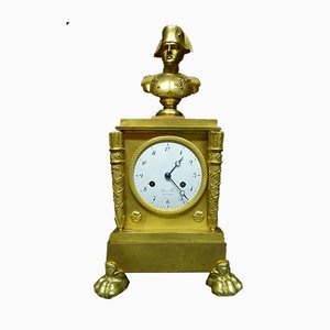 Antike XIX vergoldete Bronze Pendeluhr