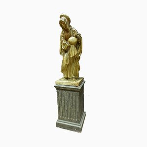 Statue Saint Martha Antique XIXe