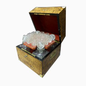 Antique XIX Liquor Cellar Set