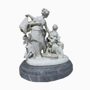 Antike Allegorie der Liebe Skulpturen, 2er Set