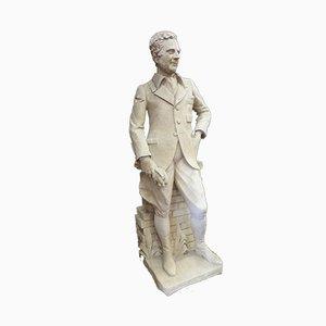 Große Antike XX Ritterstatue aus Stein