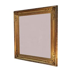 Antique Gild Mirror with Wooden Frame