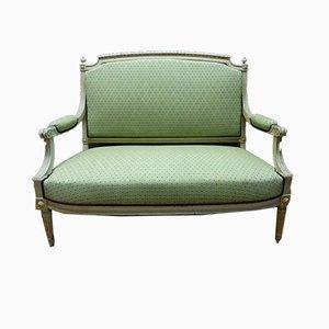 Antikes lackiertes Sofa im Louis XVI Stil