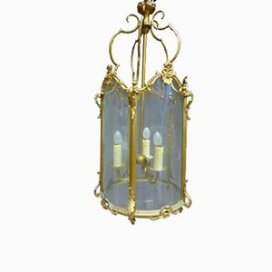 Antique XIX Golden Bronze Lantern
