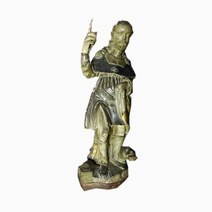 Antique Saint Roch Statue