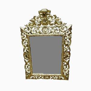 Antiker Goldener XIX Spiegel mit Holzrahmen