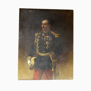 Large Antique Painting Portrait of General Pittié by Armand-Dumaresq