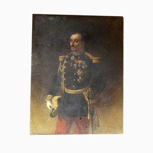 Retrato de pintura antigua grande de General Pittié de Armand-Dumaresq