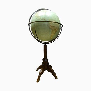 Globe Terrestre Antique de G Thomas