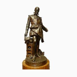 Antike Bernard Palistsy Skulptur aus Bronze von Barrias