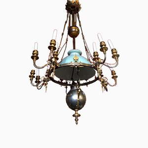 Large Antique Raise-Low Ceiling Lamp