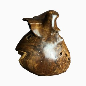Sculpture Couradin Antique en Bois