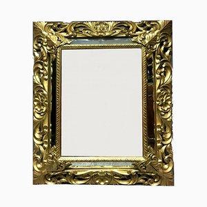 Large Antique Napoleon III Golden Wood Mirror