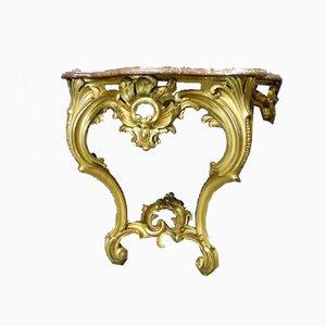 Antiker Napoleon III Konsolentisch im Louis XV Stil
