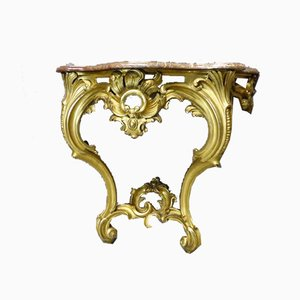 Antique Napoleon III Console Table in the Style of Louis XV