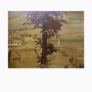 Antique Inlay Panel by Rosenau