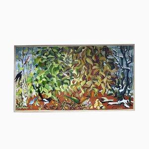 Großes Öl auf Leinwand von Th. Sanlaville
