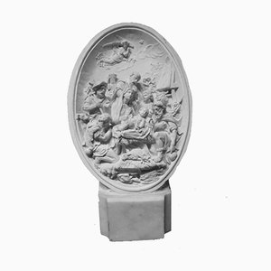 Antique Plaster The Nativity Moulding Sculpture