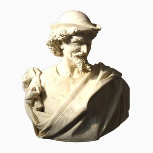 Antique Marble Sculpture by Benvenuti
