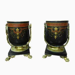 Antique Bicardy Bronze Planters by Picard, Set of 2
