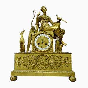 Antique Empire Gilt Bronze Pendulum