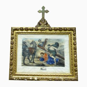 Antique Painting with Cross