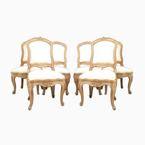 Six Louis XV Chassis Chairs, Set of 6