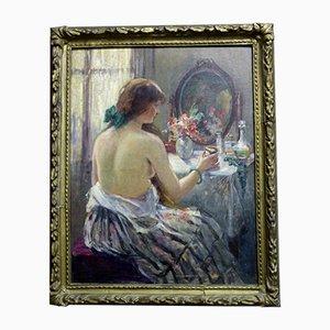Antikes Gemälde Portrait der Frau