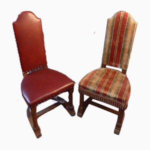 Antique Haute-Epoque Style Chairs, Set of 10