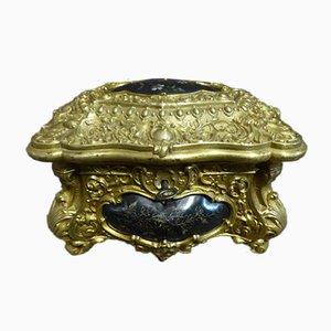 Antiker Napoleon III Bronze Schmuckkoffer