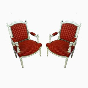 Fauteuils Style Louis XVI Antique, Set de 2
