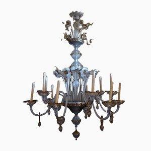 Antiker Kronleuchter aus Muranoglas