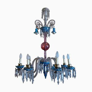 Antique Napoleon III Murano Glass Chandelier