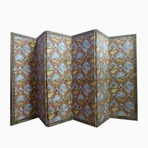 Antiker Sechsblättriger Wandschirm