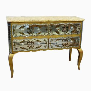 Antique Chest of Drawers in Agglomerated Mirror