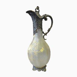 Glas und Metall Wasserkrug