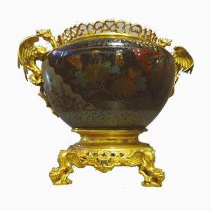 Schale aus vergoldeter Bronze