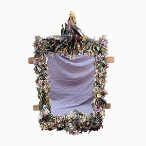 Antiker Barbotine Spiegel