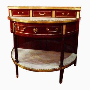Louis XVI Demi Lune Console in Mahogany