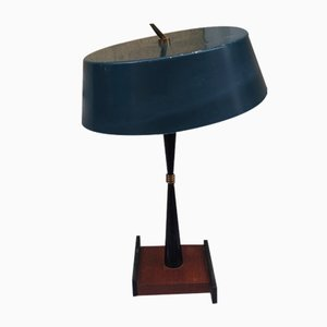 Iron & Wood Table Lamp from Stilux Milano, 1950s