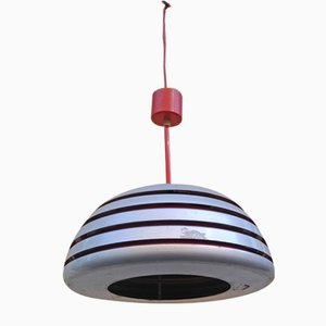 Lampada da soffitto in alluminio e metallo cromato di Hans-Agne Jakobsson, anni '60