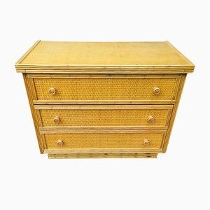 Vintage Rattan Dresser, 1970s