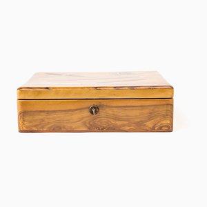 Antike Tabakbox aus Holz, 1910er