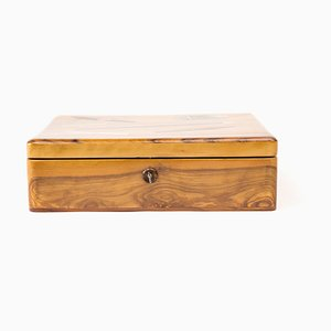 Antique Wooden Tobacco Box, 1910s