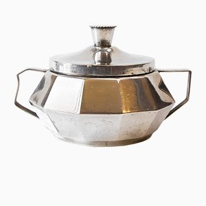 Art Deco Silver Plated Sugar Bowl, 1930s